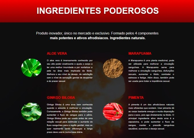 ingredientes hot grow